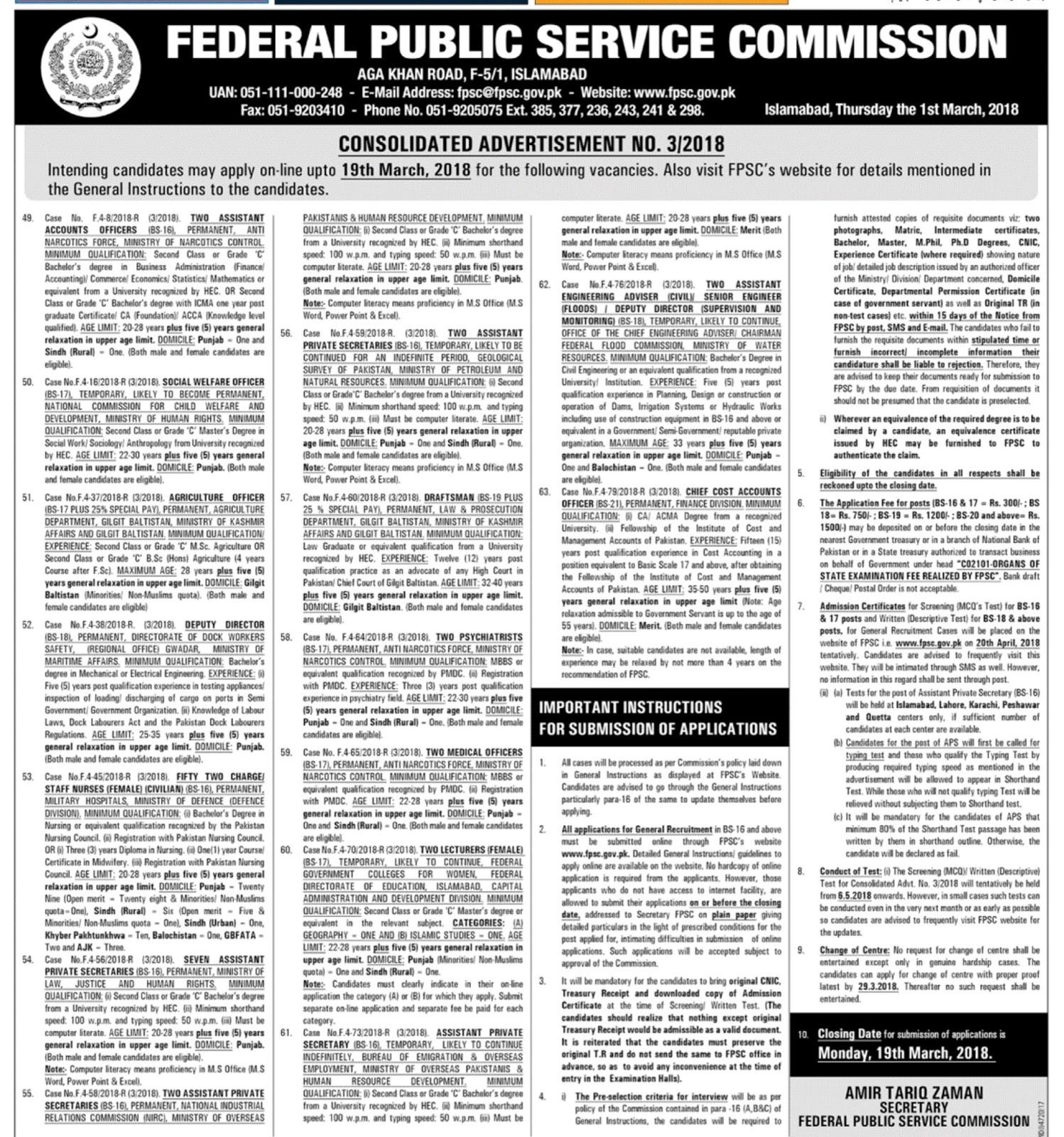 Fpsc Challan Form Download