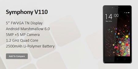 Symphony Xplorer V110 Smartphone