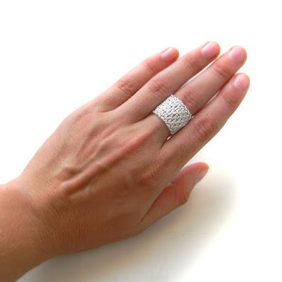 Ажурное кольцо из бисера украшения ручной работы анна белоус