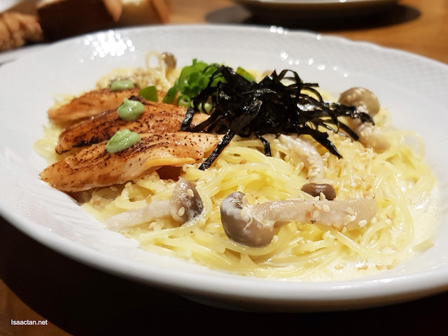 Salmon Spaghetti with Wasabi Cream Sauce - RM26.90