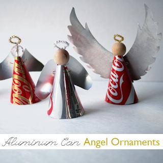 angelo di natale fai da te con alluminio