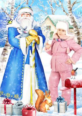 зимние коллажи для детей