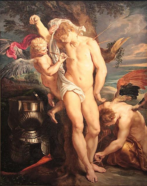 Peter Paul Rubens, San Sebastián rescatado por los ángeles, 1604