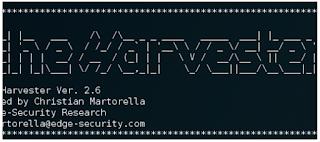 theHarvester  – Information Gathering Tool