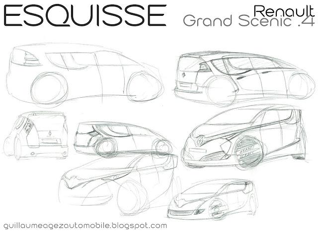 Guillaume AGEZ Automobile: Esquisse : Renault Grand Scénic 4