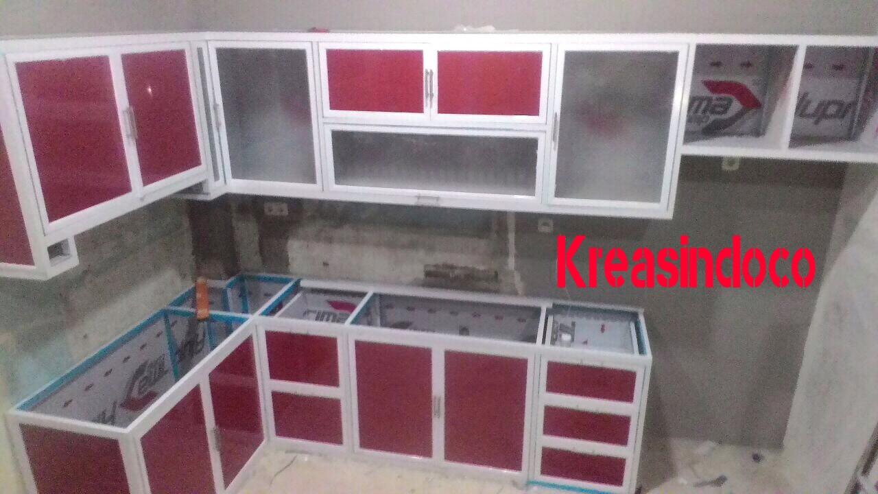 Kitchen Set Aluminium Kombinasi Acp Pemasangan Di Cilincing Jakarta