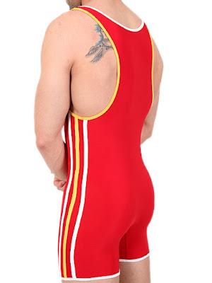 Pistol Pete Olympian Wrestling Singlet-Body Red Detail Gayrado Online Shop