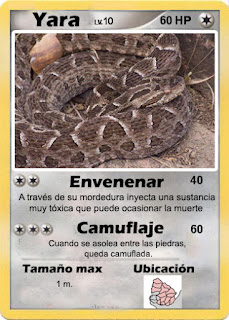 Cartas de Pokemon con Fauna uruguaya (Pradera) - Yara