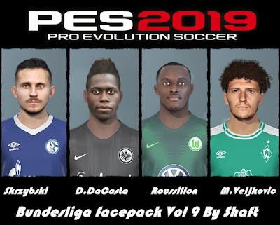 PES 2019 Bundesliga Facepack Vol 9 by Shaft