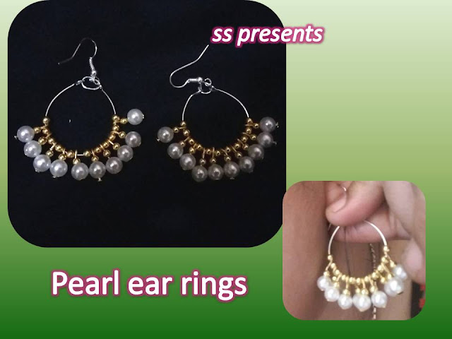 Here is pearl jewellery,silkthread hoop rings,beaded jewellery,crystal jewellery,how to make silk thread hoop pearl ear rings at home