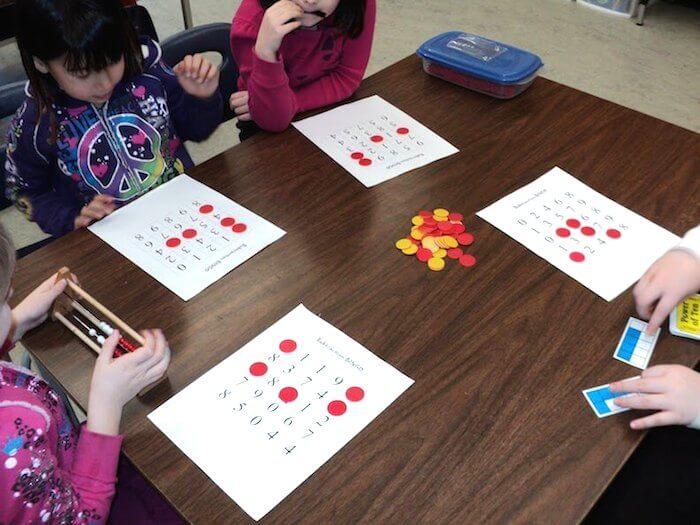Subtraction Bingo Freebie for Grade 1