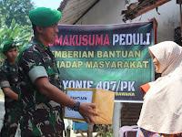 Komandan Yonif 407/PK Gelar Acara Padmakusuma Peduli