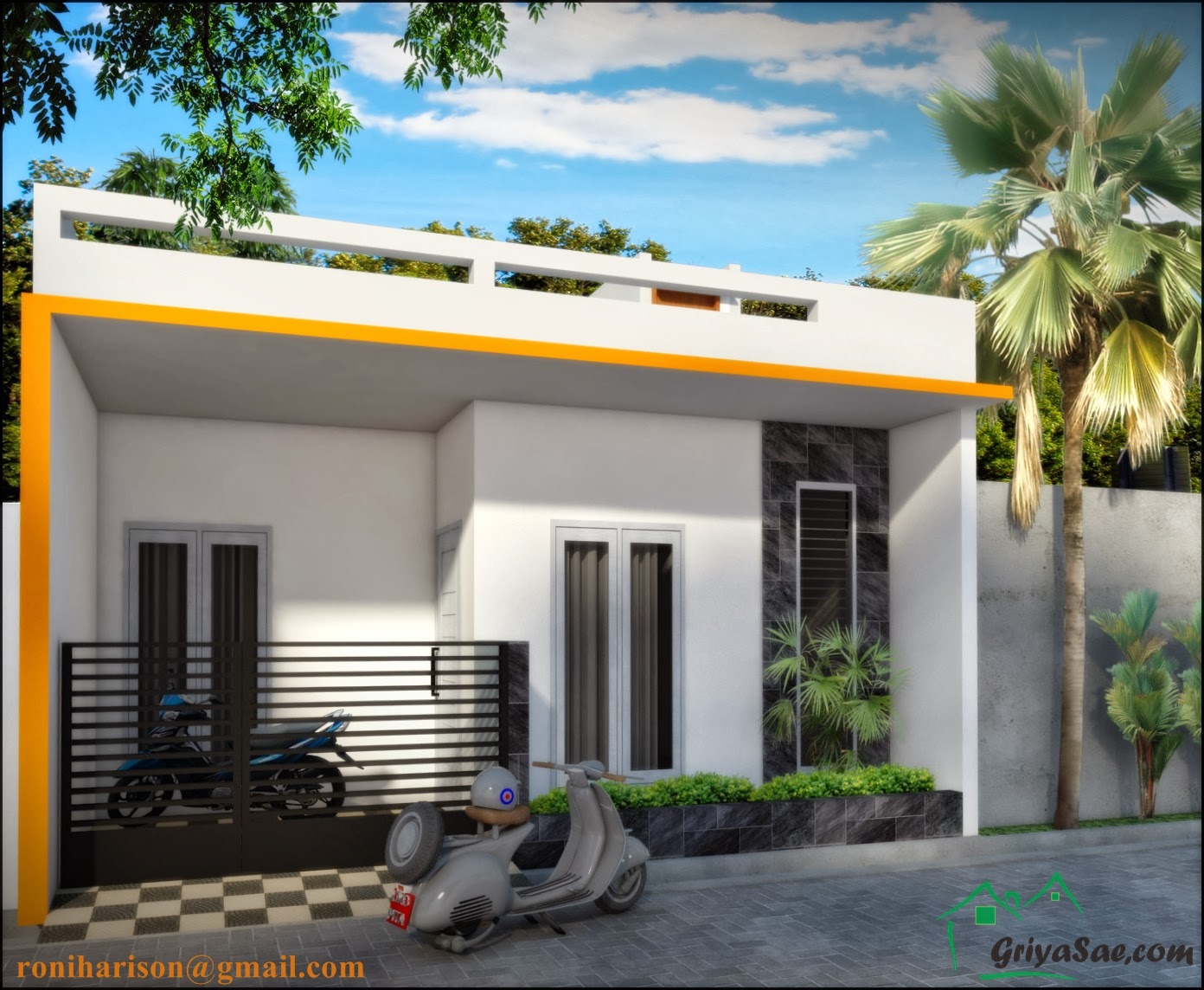 Desain Rumah 1 Lantai  Terbaru Konsep Desain  Rumah