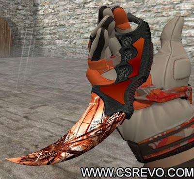 Skin Faca - Karambit Autumn Explosion HD - CS 1.6, knife