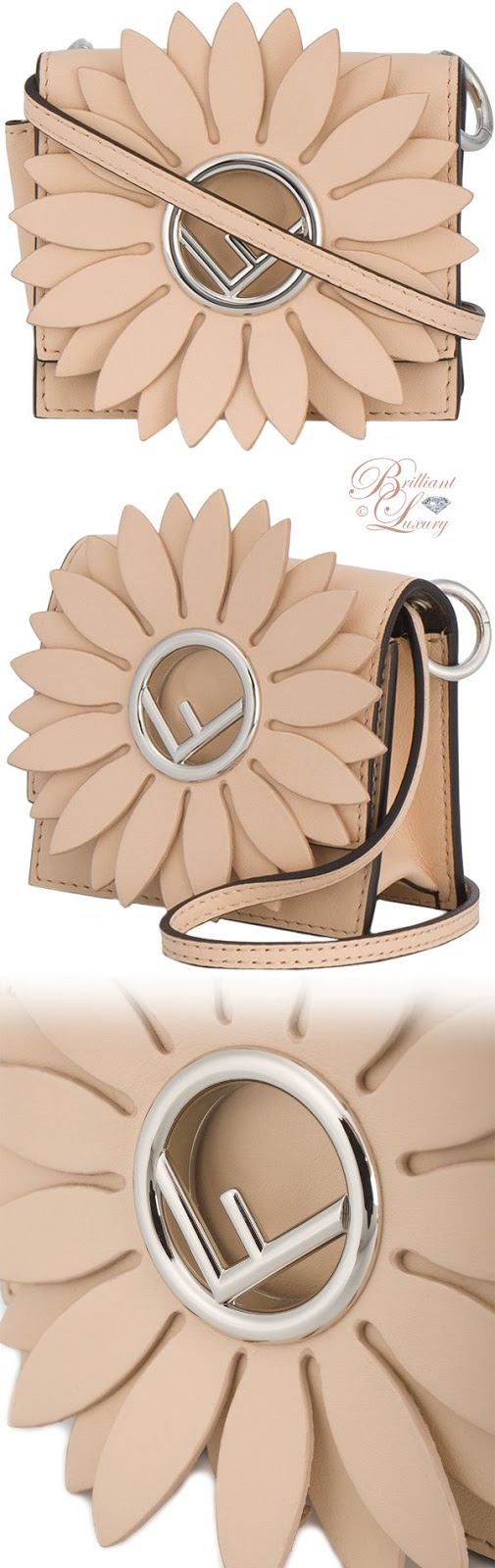 Brilliant Luxury ♦ Fendi Kan I F micro pink leather bag