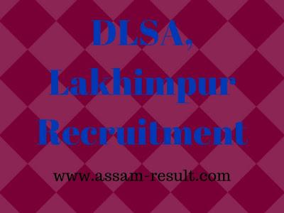 DLSA, Lakhimpur Recruitment
