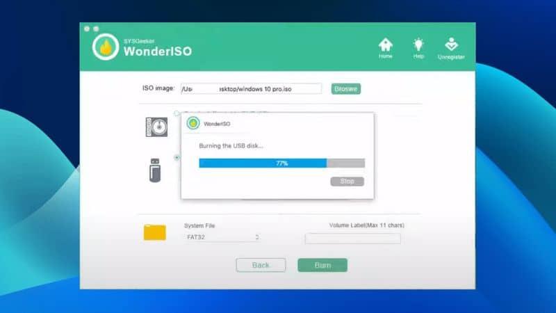 Create Windows 10 Bootable USB Using WonderISO