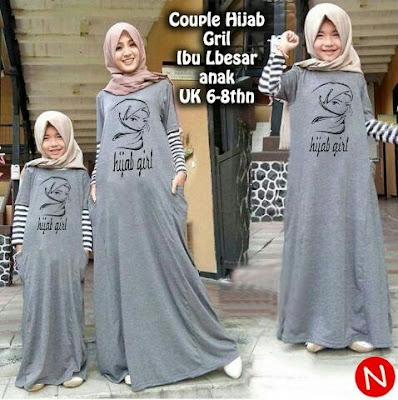 Jual Plus Jilbab / Kerudung Couple Mom and Kid Hijab Girl - 12358