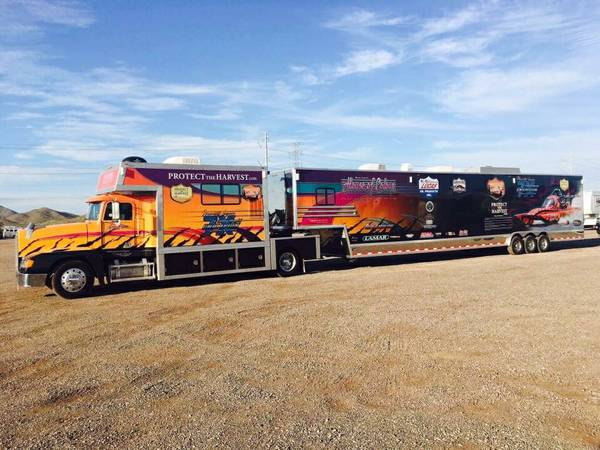 Race Rig, 1994 Frightliner FLD 120 Truck And Trailer