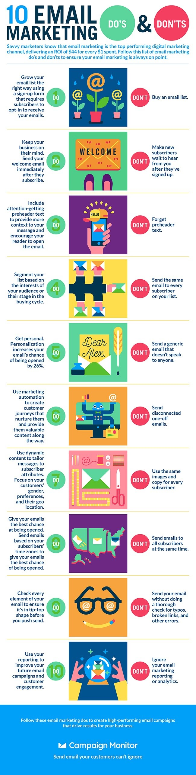 10 Email Marketing Do's and Don'ts - #infographic