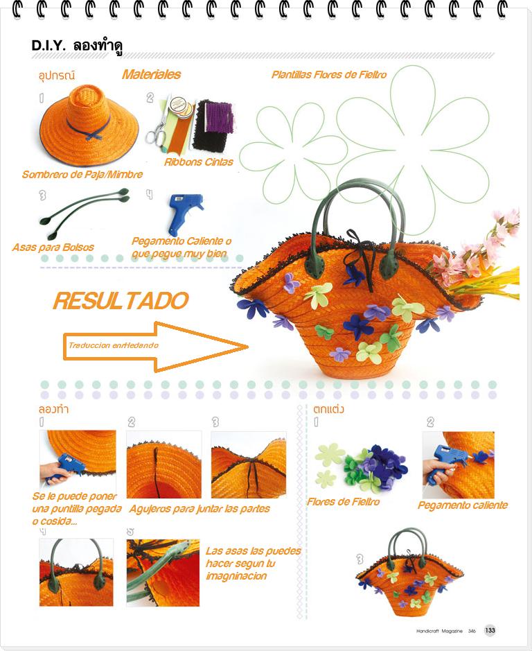cestas, sombreros de paja, manualidades, diys, transformación