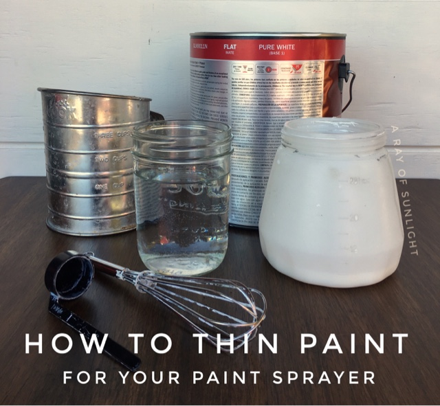 How to Thin Paint for your paint sprayer