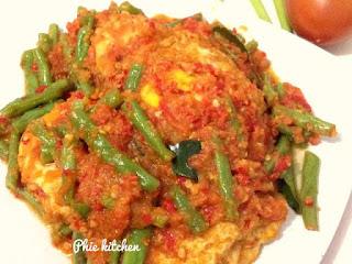 Telur Buncis Sambal Tomat