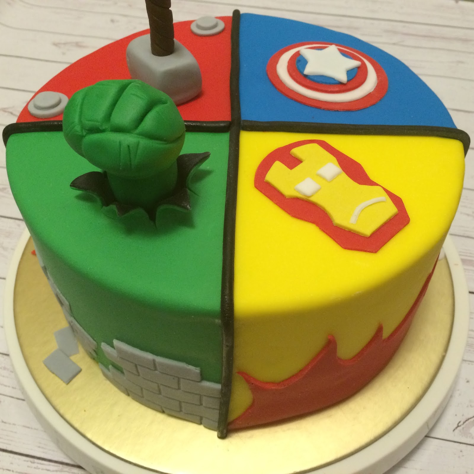 Awesome Avengers Assemble Birthday Cake The Cake Boutique Funny Birthday Cards Online Alyptdamsfinfo