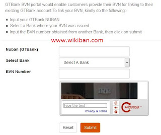 hwo to link bvn to gtbank online