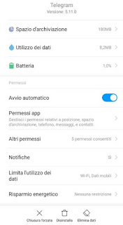 Impostazioni app