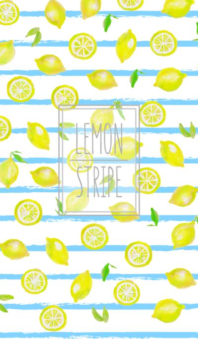Adult watercolor painting:Lemon stripeWV