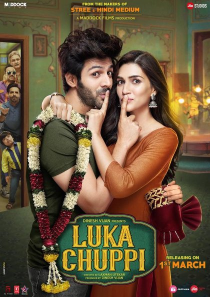 Kartik Aaryan and Kriti Sanon film Luka Chuppi Crosses 71 Crore Mark, Now 5 Bollywood Highest-Grossing of 2019 Wikipedia