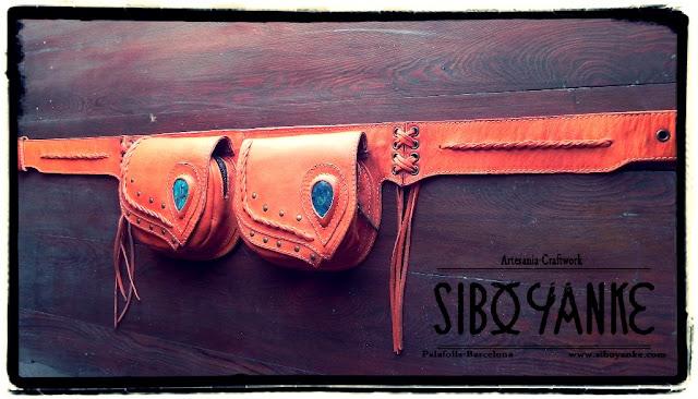 LeatherUtilityBelt FannyPack FestivalBelt Boho Belt Gypsy Belt Utility Belt