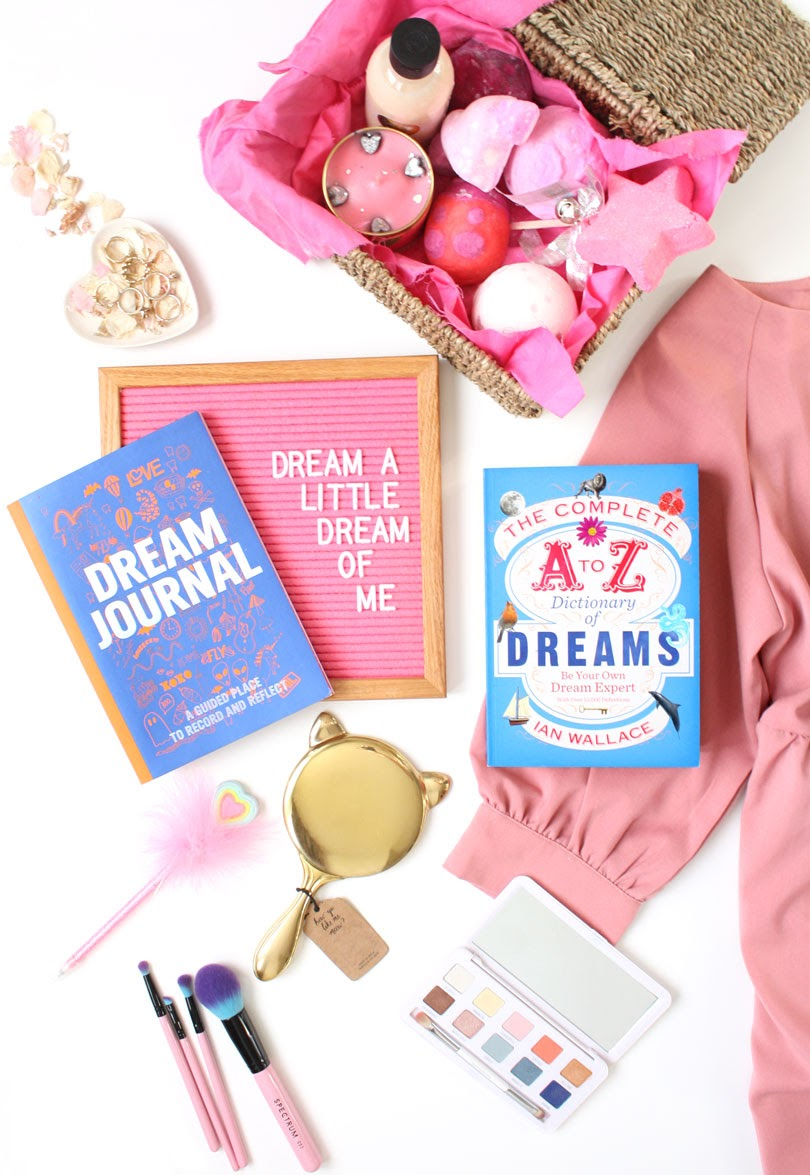 dream journal lifestyle flatlay