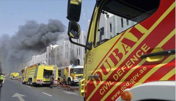 إحتراق 4 سفن في الفجيرة.. وحرائق ضخمة قرب مطار دبي!