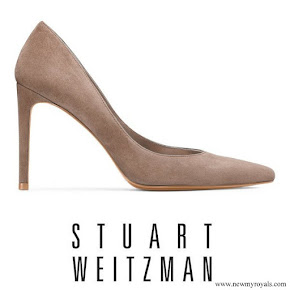 Meghan Markle wore Stuart Weitzman Legend Suede Pumps