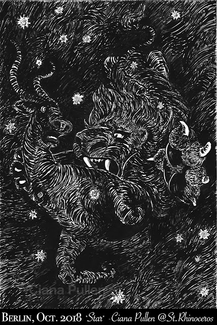 "Inktober 2018 Day 8 ""Star"" by Ciana Pullen / St. Rhinocéros"