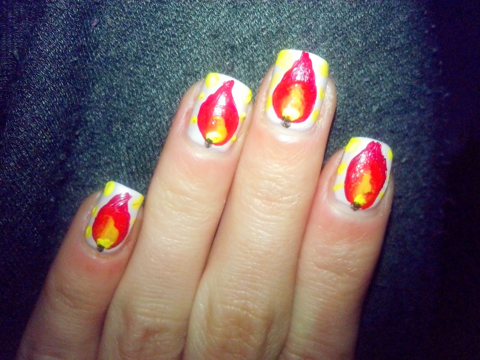winter-nail-art-challenge-day-one-christmas-lights-candles