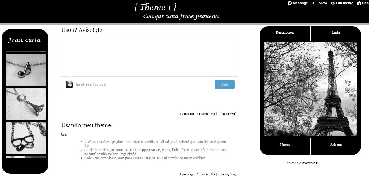 Theme tumblr