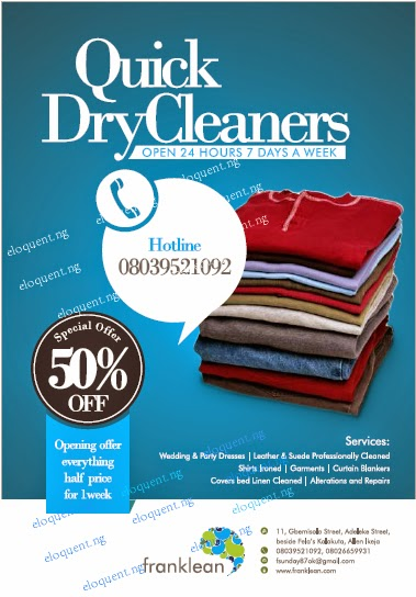Eloquent Art Gallery: Logo, Flyer and Website Design for Dry Cleaning ...
