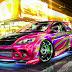 Papel de Parede Carro Tunado com Neon