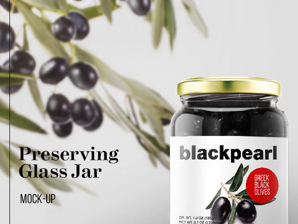 Download Preserving Glass Jar Mockup PSD Free