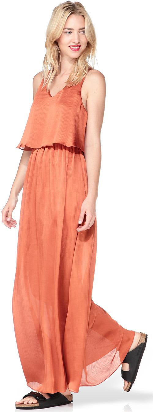 Robe longue d'été orange Pepe Jeans