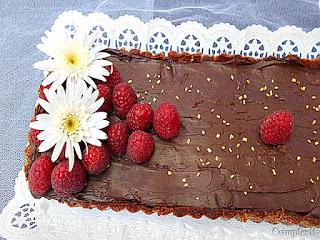 Tarte chocolate e frutos vermelhos