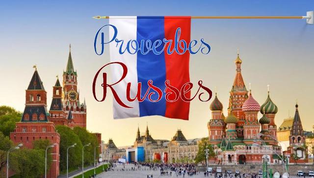 Proverbes et drapeau russe