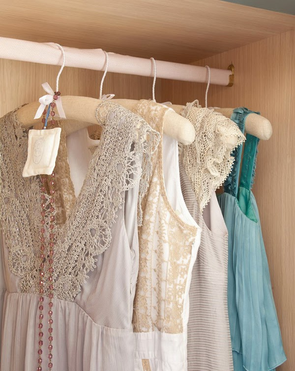 Romantic lace, beads and chiffon in the closet