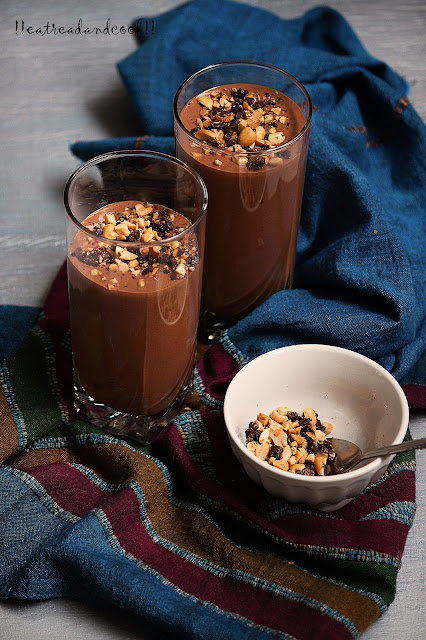 how to make Chocolate and Peanut Butter Lassi recipe