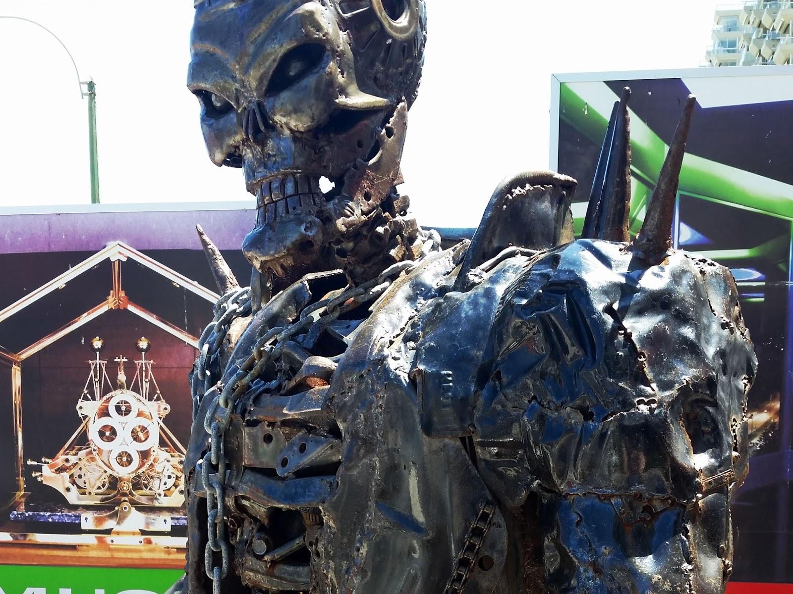 escultura Ghost Rider