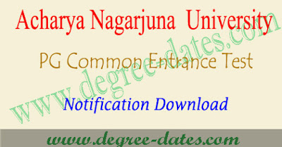 ANUPGCET 2018 notification, online apply, hall ticket, results anucet