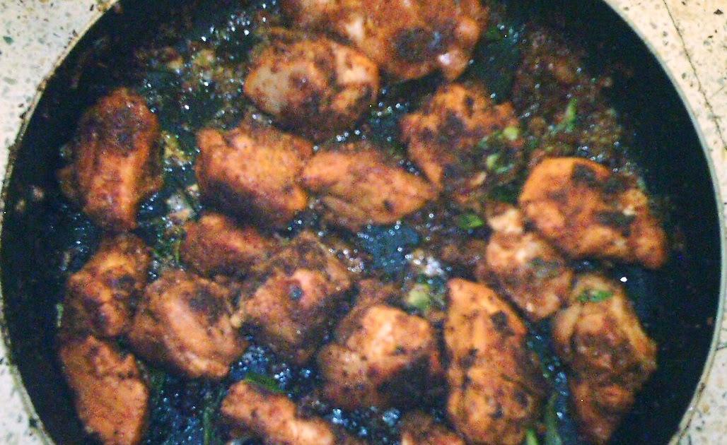 Egg Cake Recipe In Kadai: Spicy Chicken Shallow Fry In A Non Stick Kadai. Tastes